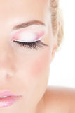 Portrait of beautiful girl with pink make-up Royalty Free Stock Photo