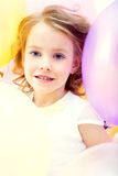 Portrait of beautiful girl posing with balloons Royalty Free Stock Image