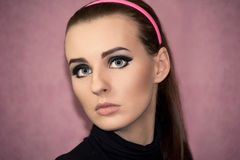 Portrait of a beautiful girl  in retro style Royalty Free Stock Photos