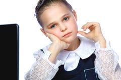 Portrait of a beautiful girl schoolgirl Stock Photo