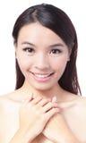 Portrait of beautiful girl  smile face Stock Photos