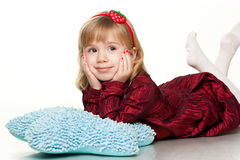 Portrait of a beautiful girl smiling Royalty Free Stock Images