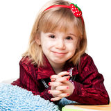 Portrait of a beautiful girl smiling Stock Photography