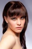 Portrait of beautiful girl, studio Stock Photography