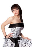 Portrait of beautiful girl, studio Stock Image