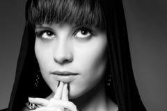 Portrait of beautiful girl, studio Stock Images