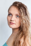 Portrait of beautiful girl, studio Royalty Free Stock Photos