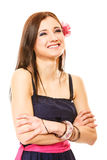 Portrait of beautiful girl in summer style Royalty Free Stock Photos