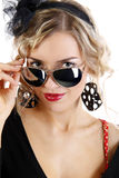 Portrait of a beautiful girl in sun glasses Stock Photo