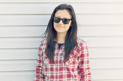 Portrait of beautiful girl in sunglasses Royalty Free Stock Photos