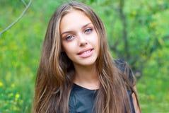 Portrait of a beautiful girl teen. Sixteen years Stock Photo