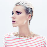 beautiful girl with trendy hairstyle Stock Photography
