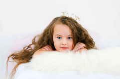 Portrait of the beautiful girl Stock Images