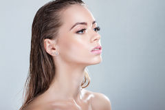 Portrait of a beautiful girl with wet hair Royalty Free Stock Photos