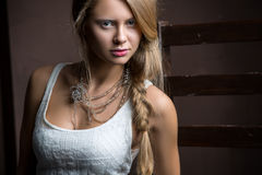 Portrait of beautiful girl Stock Images