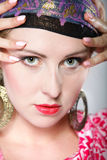 Portrait beautiful girl woman in a turban Stock Photo
