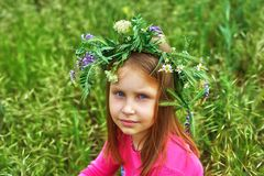 Outdoor portrait of beautiful girl outdoors stock image