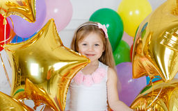 Portrait of a beautiful girl on your birthday Royalty Free Stock Image