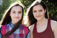 Portrait of beautiful girls Royalty Free Stock Photography