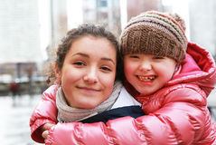 Portrait of beautiful girls Royalty Free Stock Images
