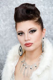 Portrait of beautiful glamour woman Royalty Free Stock Photos