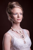 Portrait of Beautiful gorgeous woman in victorian style Royalty Free Stock Images