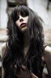 Portrait of beautiful goth girl. Closeup royalty free stock photos