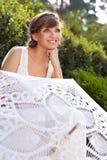 Portrait of beautiful greek woman bride Stock Image