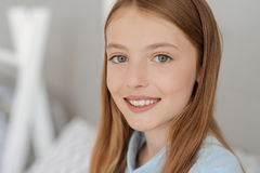 Portrait of beautiful grey eyed girl Stock Photo