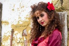Portrait of beautiful gypsy woman stock photography