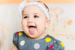 Portrait of beautiful happy baby Stock Images