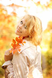 Portrait of the beautiful and happy blonde Stock Photography