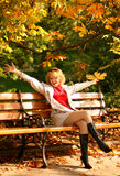 Portrait of the beautiful and happy blonde Royalty Free Stock Photo