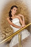 A portrait of a beautiful happy bride Royalty Free Stock Photo