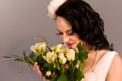 Portrait of a beautiful happy bride Royalty Free Stock Photos