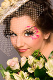 Portrait of a beautiful happy bride Royalty Free Stock Images
