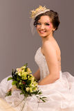 Portrait of a beautiful happy bride Stock Images