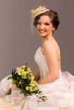 Portrait of a beautiful happy bride Stock Images