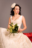 Portrait of a beautiful happy bride Royalty Free Stock Photo