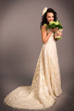 Portrait of a beautiful happy bride Royalty Free Stock Image