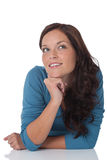 Portrait of beautiful happy brown hair woman Royalty Free Stock Photo
