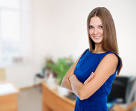 Portrait of a beautiful happy business woman Stock Images