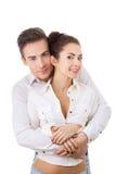 Portrait of a beautiful happy couple Stock Photos