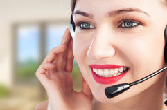 Portrait of beautiful happy customer representative at office Stock Photography