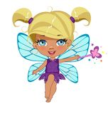 Portrait of a beautiful happy fairy Royalty Free Stock Images