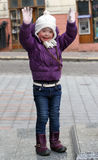 Portrait of beautiful happy girl. Stock Photo