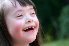 Portrait of beautiful happy girl Stock Photos