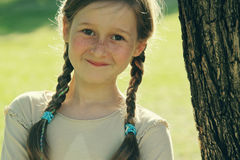Portrait of a beautiful happy smiling girl Royalty Free Stock Photography