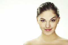 Portrait of beautiful happy young woman stock images