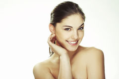 Portrait of beautiful happy young woman Royalty Free Stock Photography